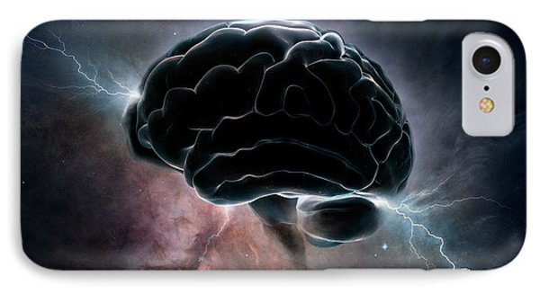 Cosmic Intelligence IPhone Case by Johan Swanepoel