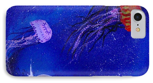 Cosmic Jellyfish  Phone Case by Andy Lawless