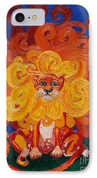 Cosmic Lion Phone Case by Cassandra Buckley