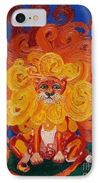 Cosmic Lion IPhone Case by Cassandra Buckley