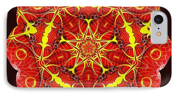 Cosmic Masculine Firestar IPhone Case by Derek Gedney