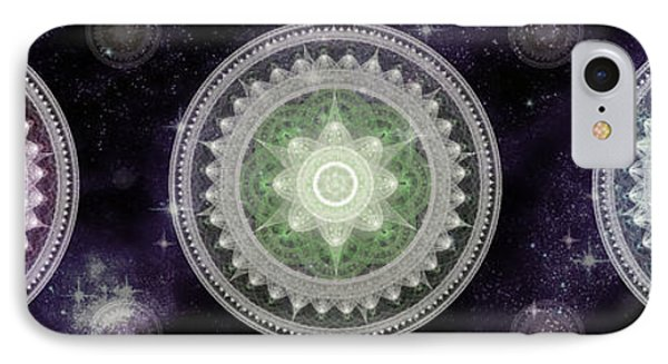 Cosmic Medallians Rgb 2 IPhone Case by Shawn Dall