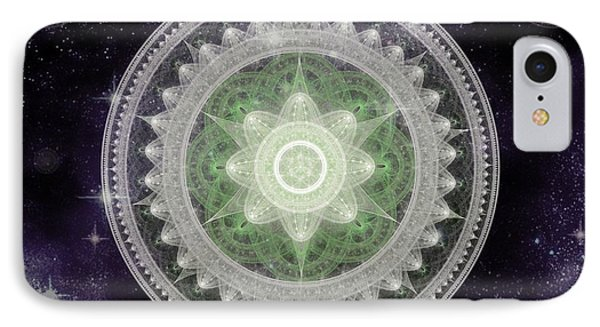 Cosmic Medallions Earth IPhone Case by Shawn Dall
