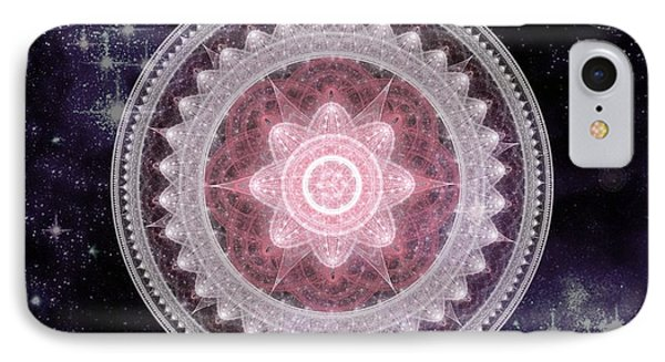 Cosmic Medallions Fire IPhone Case by Shawn Dall