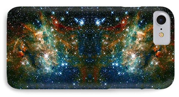 Cosmic Phoenix  IPhone Case by Jennifer Rondinelli Reilly - Fine Art Photography