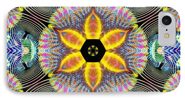 Cosmic Spiral Kaleidoscope 13 IPhone Case by Derek Gedney