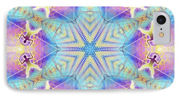Cosmic Spiral Kaleidoscope 17 IPhone Case