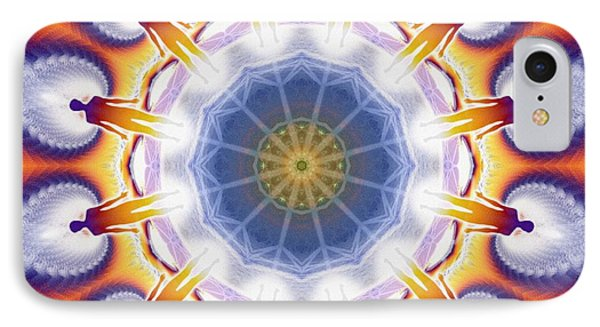 Cosmic Spiral Kaleidoscope 34 IPhone Case by Derek Gedney