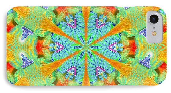 Cosmic Spiral Kaleidoscope 41 IPhone Case by Derek Gedney