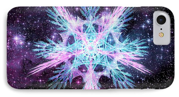 Cosmic Starflower IPhone Case by Shawn Dall