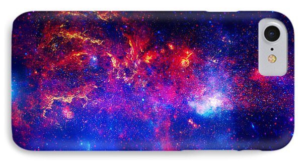 Cosmic Storm In The Milky Way IPhone Case by Celestial Images