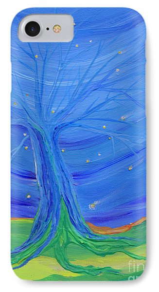 IPhone Case featuring the painting Cosmic Tree by First Star Art