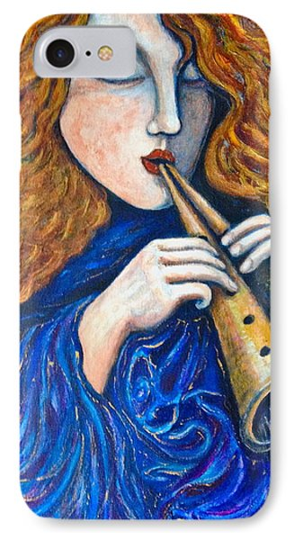 IPhone Case featuring the painting Cosmic Tune by Rae Chichilnitsky