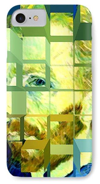 Cosmic Van Gogh Portrait Phone Case by Jerome Stumphauzer