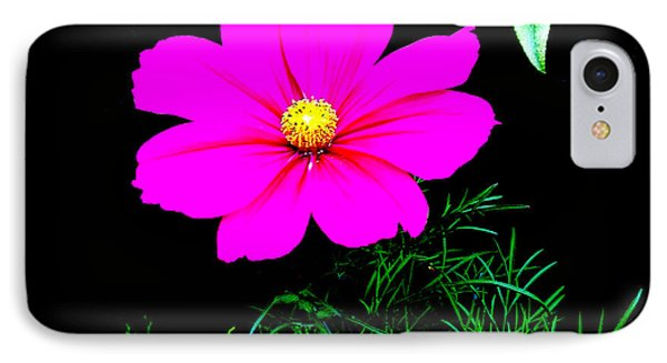 Cosmos Pink On Black IPhone Case