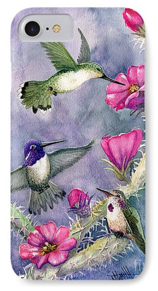 Costa Hummingbird Family IPhone Case by Marilyn Smith