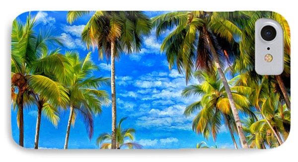 IPhone Case featuring the painting Costa Rican Paradise by Michael Pickett