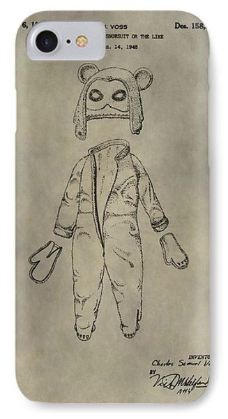 Costume And Mask Patent IPhone Case
