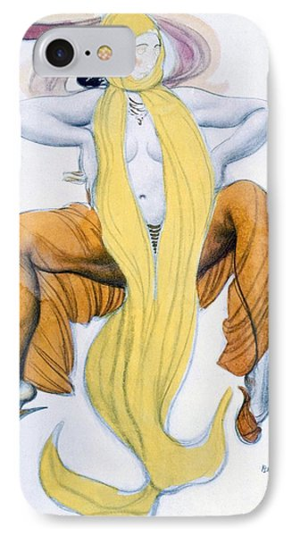 Costume Design For A Bacchic Dancer IPhone Case by Leon Bakst