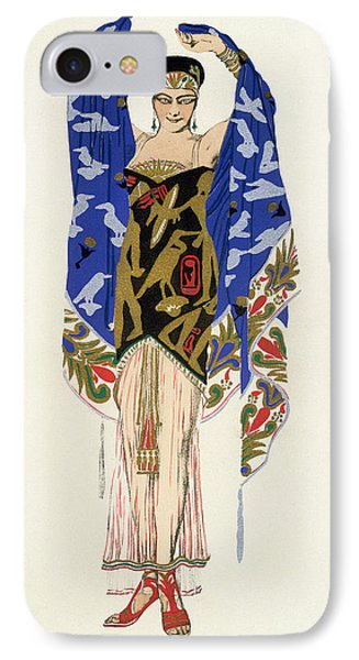 Costume Design For A Dancing Girl Phone Case by Leon Bakst