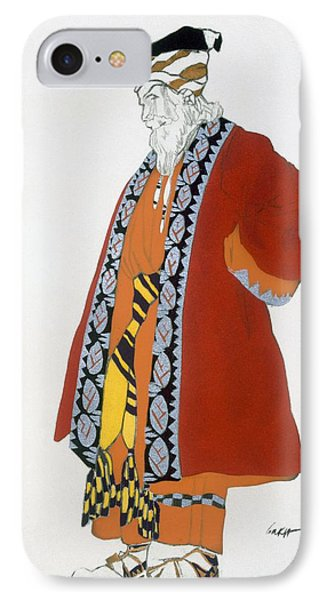 Costume Design For An Old Man In A Red IPhone Case by Leon Bakst