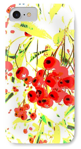 Cotoneaster IPhone Case by Barbara Moignard