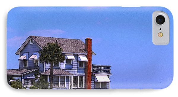 IPhone Case featuring the photograph Cottage Blue by Laura Ragland