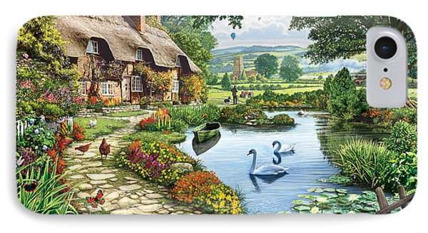 Cottage By The Lake IPhone Case by Steve Crisp