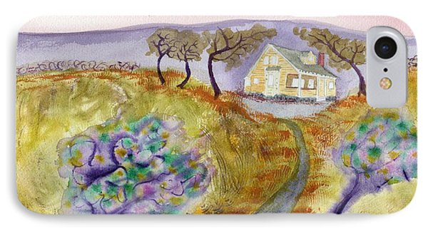 Cottage By The Purple Trees IPhone Case