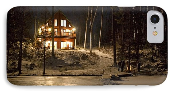Cottage Country - Winter Phone Case by Pat Speirs