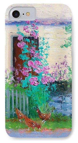 Cottage Garden By Jan Matson IPhone Case by Jan Matson