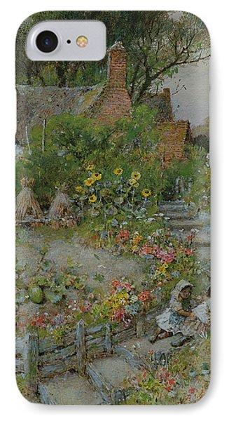 Cottage Garden In Summer IPhone Case by William Stephen Coleman