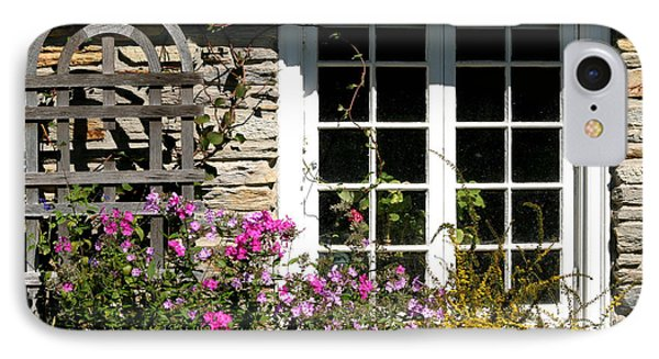 Cottage Garden Window IPhone Case by Living Color Photography Lorraine Lynch