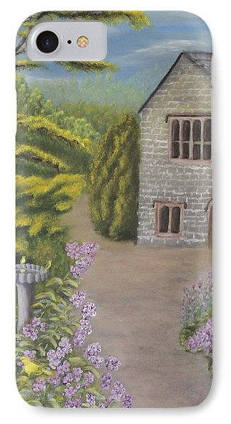 Cottage In The Woods Phone Case by Lou Magoncia