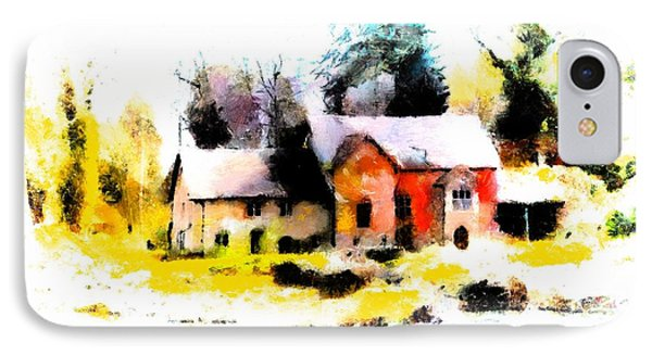 IPhone Case featuring the painting Cottage In The Woods by Wayne Pascall