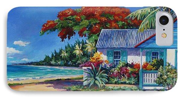 Cottage On 7-mile Beach Phone Case by John Clark