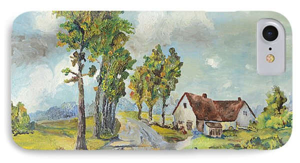 Cottage On Poplar Lane IPhone Case by Mary Ellen Anderson