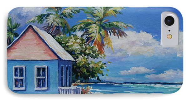 Cottage On The Beach IPhone Case by John Clark