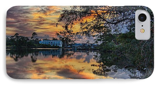 IPhone Case featuring the digital art Cotton Bayou Sunrise by Michael Thomas
