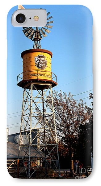 Cotton Belt Route Water Tower In Grapevine IPhone Case