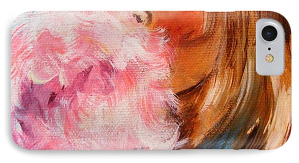 IPhone Case featuring the painting Cotton Candy by Karen  Ferrand Carroll