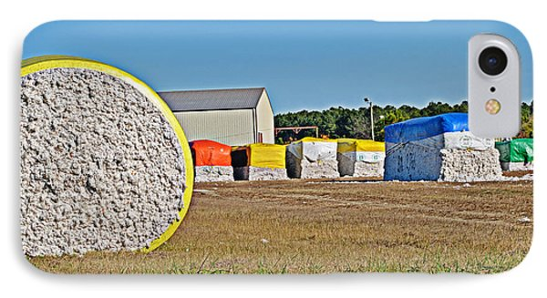 IPhone Case featuring the photograph Cotton Harvest by Linda Brown