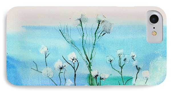 Cotton Poppies Phone Case by Anil Nene