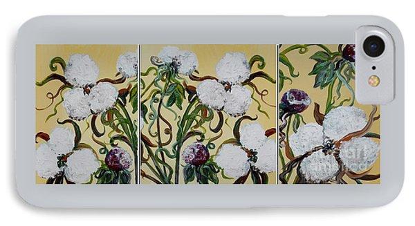 Cotton Triptych Phone Case by Eloise Schneider