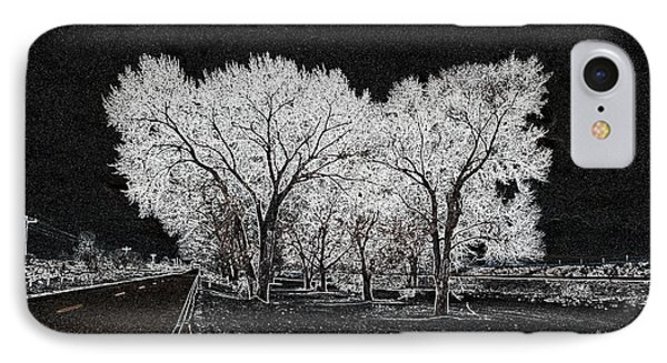 IPhone Case featuring the digital art Cottonwood Frost by Aliceann Carlton