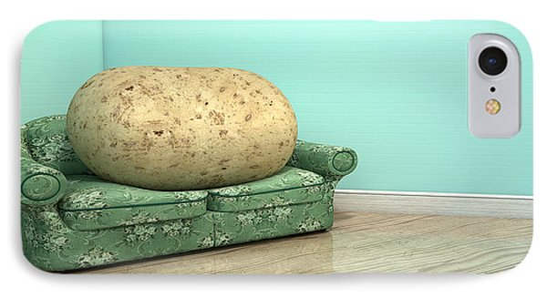 Couch Potato On Old Sofa IPhone Case by Allan Swart