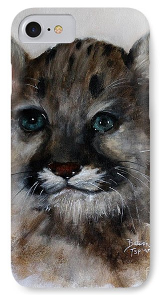 Antares - Cougar Cub IPhone Case by Barbie Batson