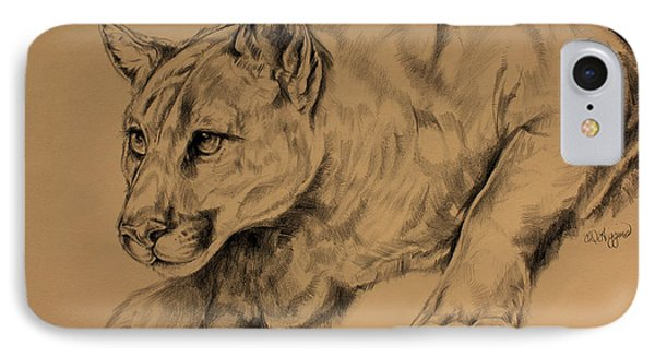 Cougar Phone Case by Derrick Higgins
