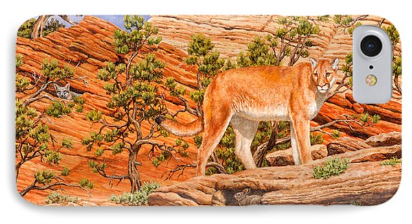 Cougar - Don't Move Phone Case by Crista Forest