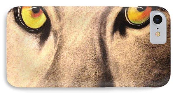Cougar Eyes IPhone Case by Renee Michelle Wenker